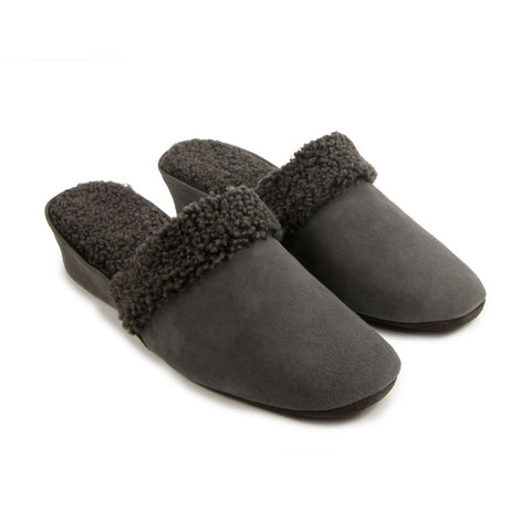 Jacques Levine #9854 Slippers in Grey