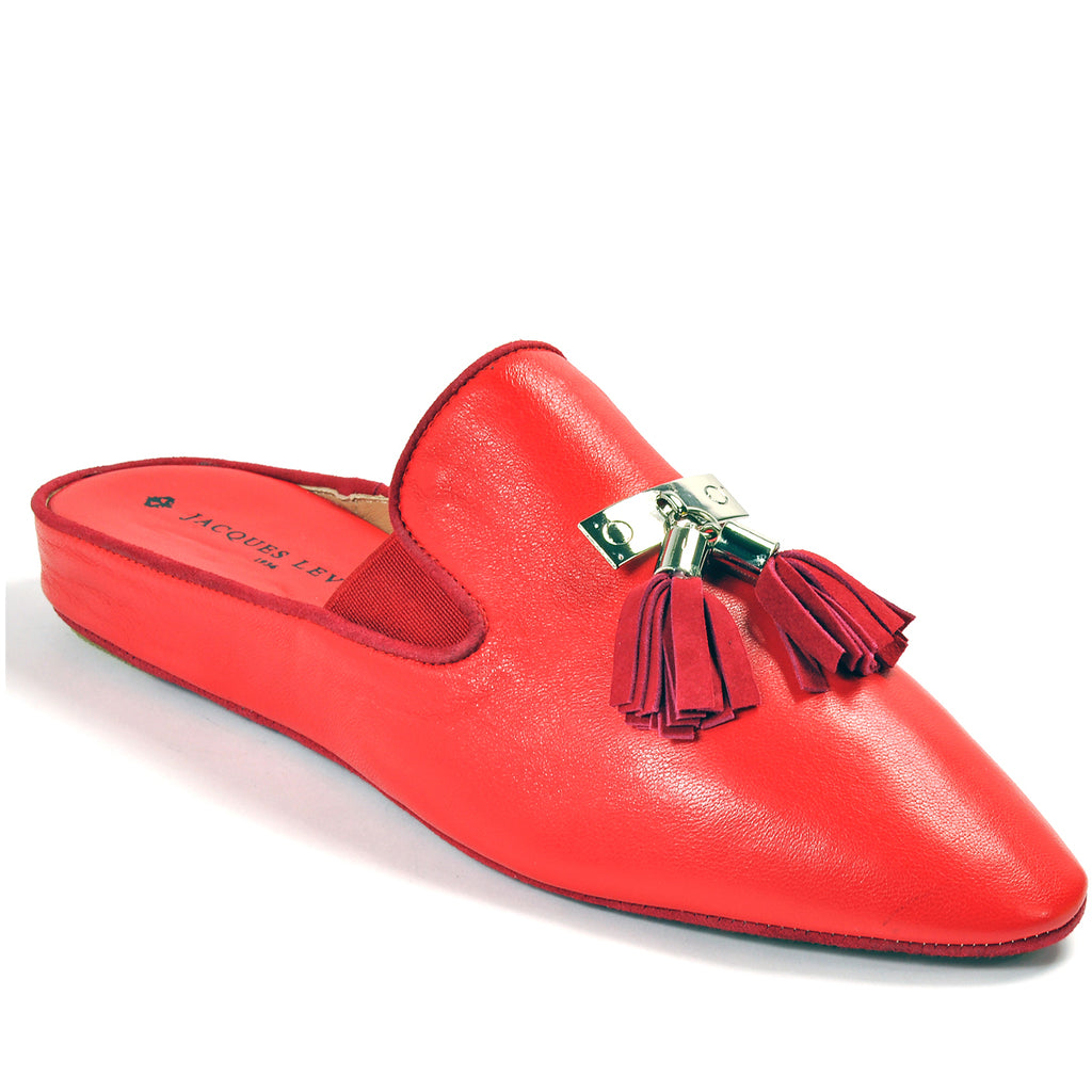 0251f085d9e Jacques Levine CAMILLA Leisurewear Slippers in Red
