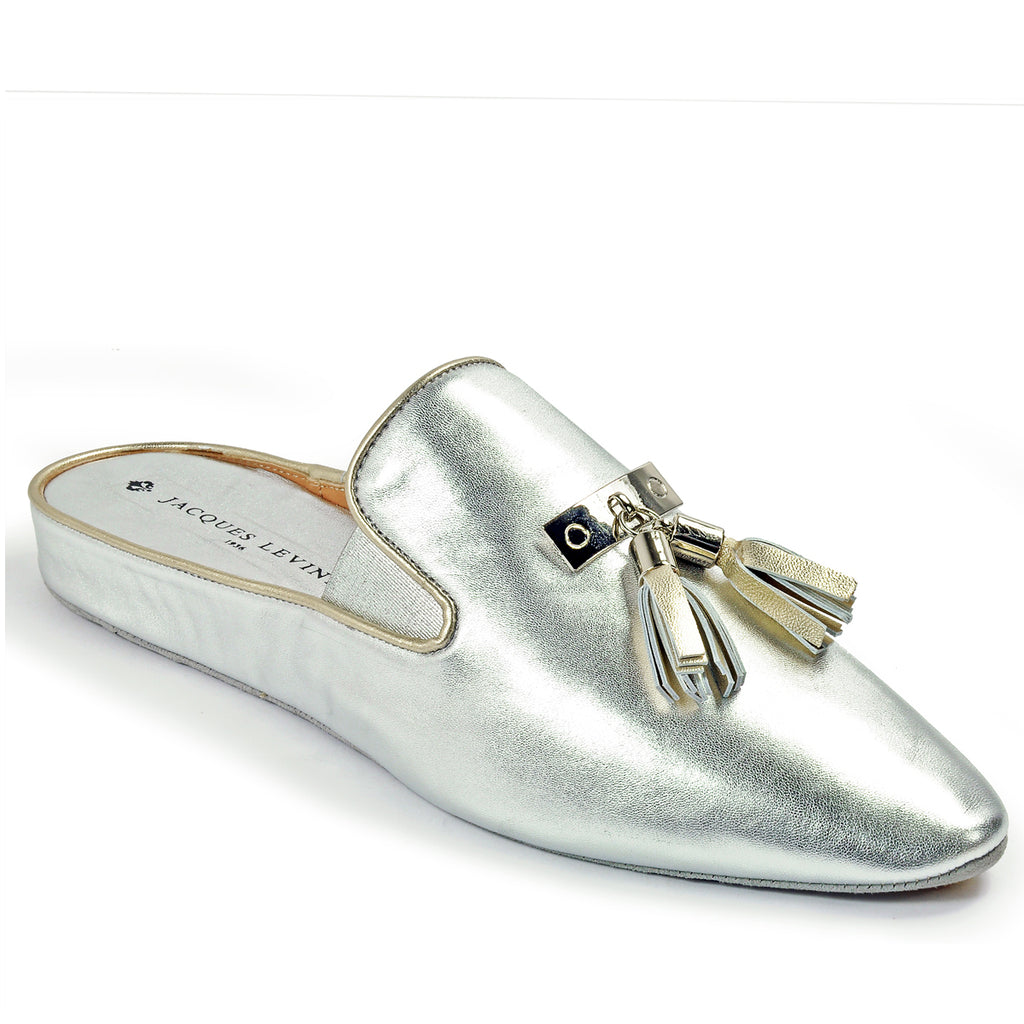 463959321e0 Jacques Levine CAMILLA Leisurewear Slippers in Silver