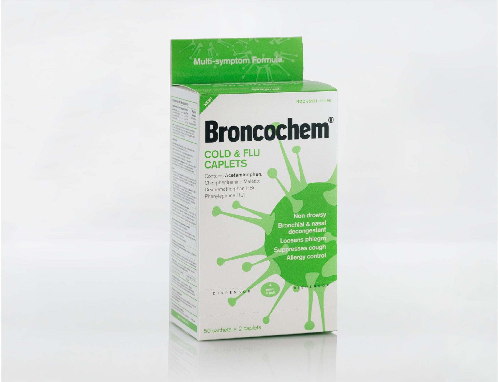 Broncochem Cold & Flu Caplet (50 packs x 2 caplets)