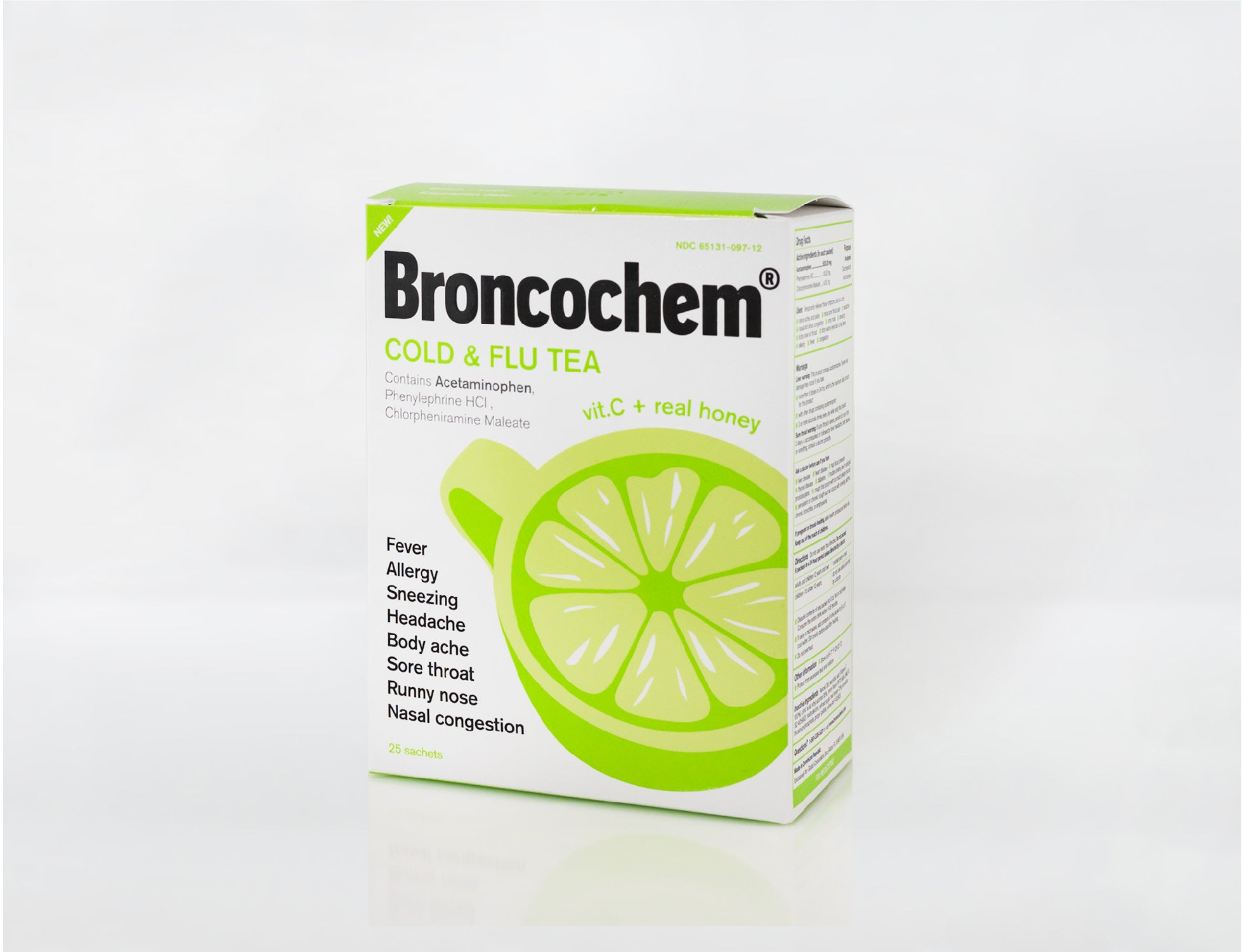 Broncochem Cold & Flu Tea (25 Packets)