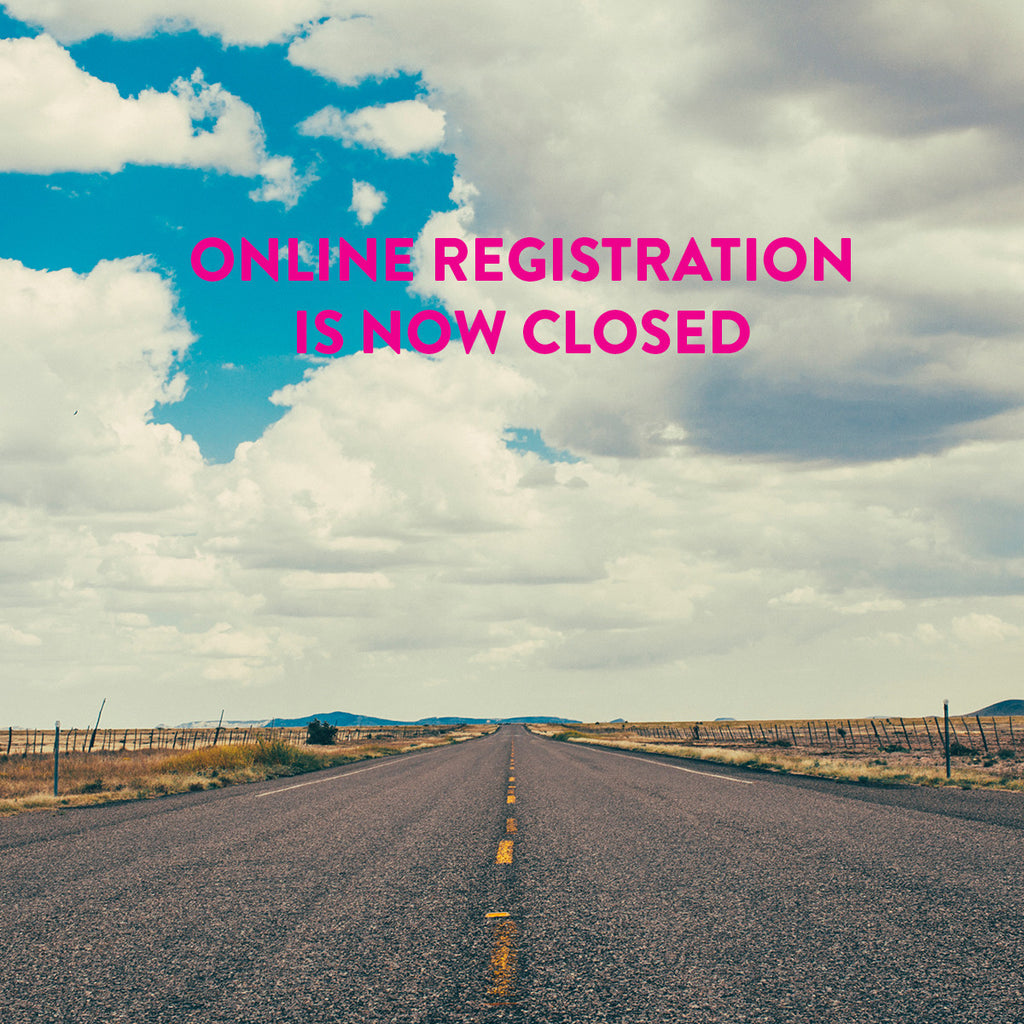 ONLINE REGISTRATION NOW CLOSED
