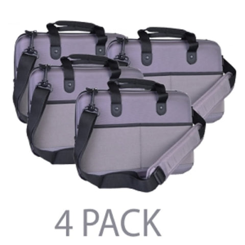 (4-Pack) Cocoon CPS365GY EVA Shock-Absorbent Laptop Case w/Shoulder Strap & Grid-It Organization System -Fits 13 (Gray) - School Tech