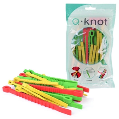 (30-Pack x 25 - 750 Total Cables Ties) UT Wire Q-Knot Multi-purpose Self-Locking Reusable Cables Ties  (3-Sizes/Colors) - School Tech