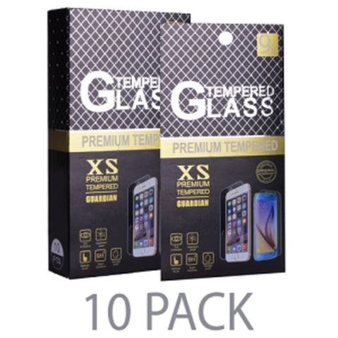 (10-Pack) XS Premium Tempered Guardian Glass Screen Protector for Apple iPhone 6/6S (4.7/9H) - Retail Hanging Package - School Tech