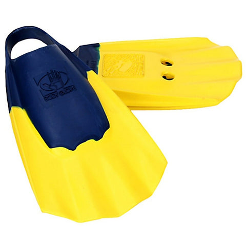 Body Glove Pro Model Blue and Yellow Bodyboarding Fins