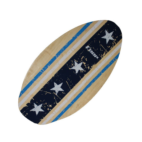 Coop 35-1/2 Inch Super Skimboard Blue with White Stars