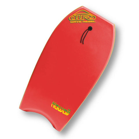 Wave Rebel Hawaii 36, 39 and 42 Inch Red Bodyboard
