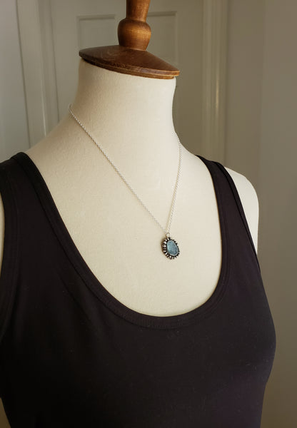 blue gemstone necklace sold at Gallery 209 Savannah