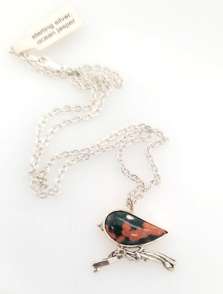 handmade bird necklace at Gallery 209