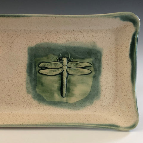functional dragonfly platter by Hugh Wayne