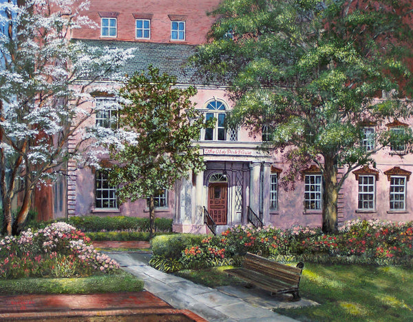 Gallery 209 artist Bill Rousseau painting of the Pink House