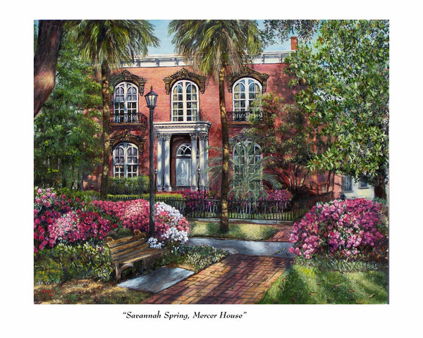 Bill Rousseau Savannah Spring Mercer House