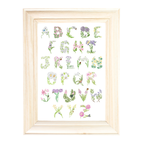 Floral Alphabet print by Erica Catherine Gallery 209
