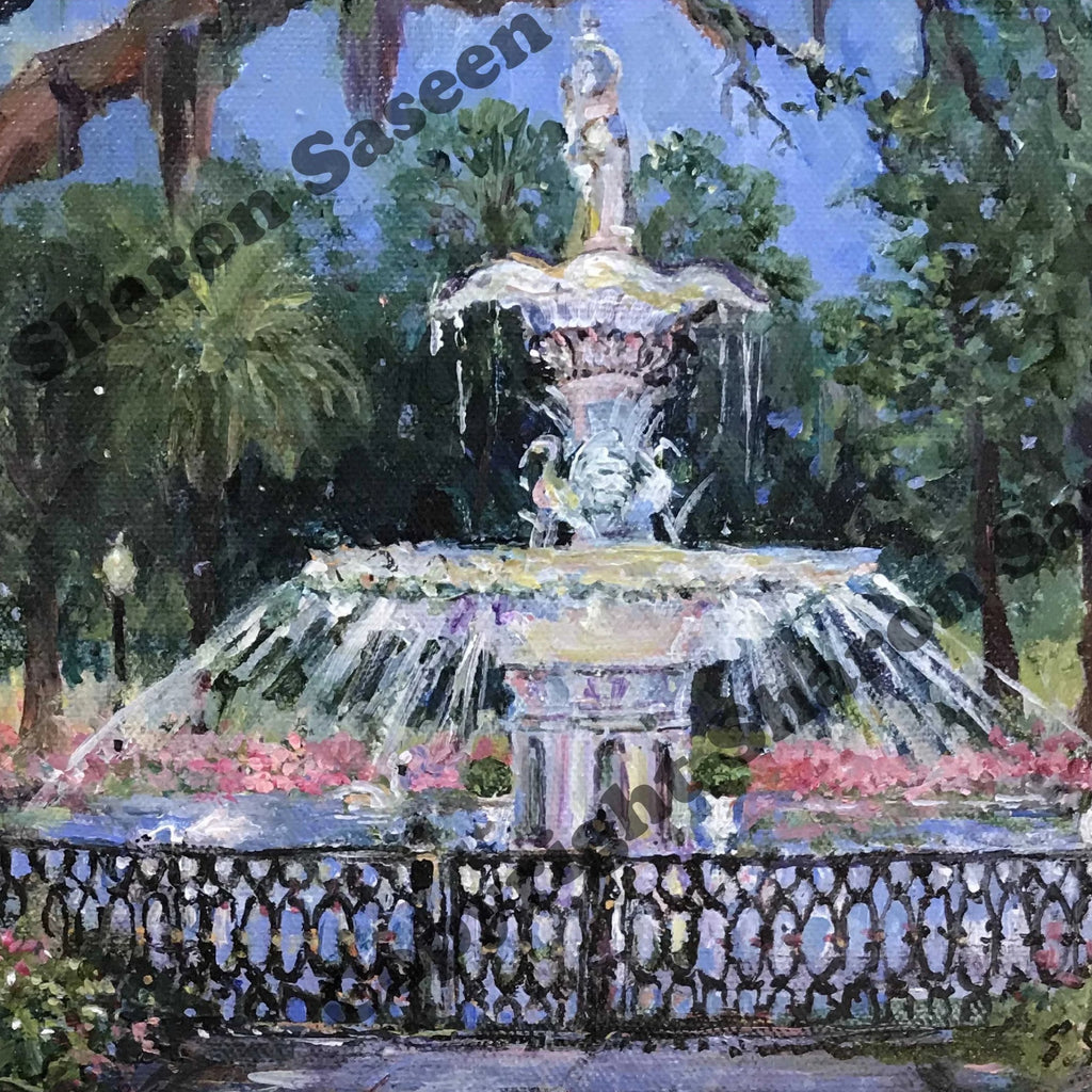 Forsyth Park Fountain, Savannah, Georgia, c 2019