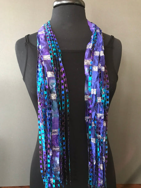 beautiful ribbon scarf by Gini Steele