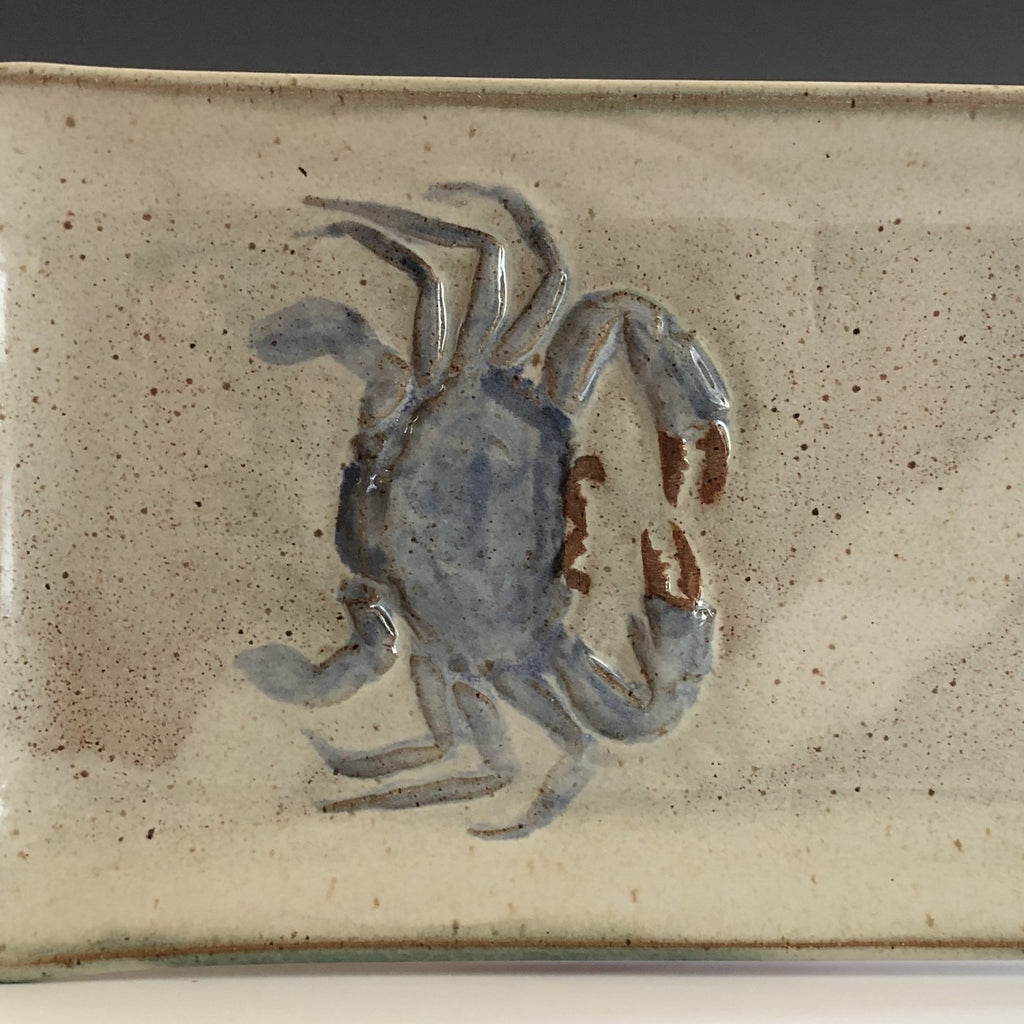 Pottery by Hugh Wayne with Blue Crab