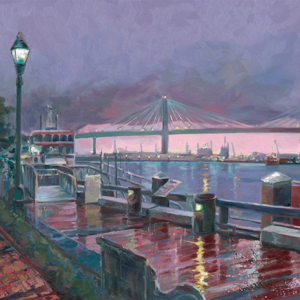 River Street Purple Rain Painting