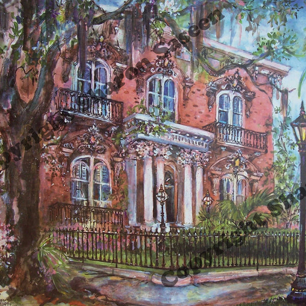 Mercer Mansion, Monterey Square, Savannah, Georgia, c 1993