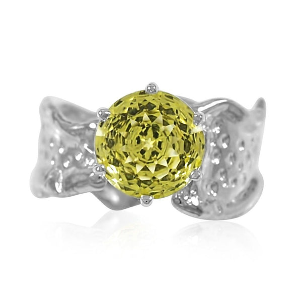 Kristen Baird Ripple Ring gemstone Lemon Quartz