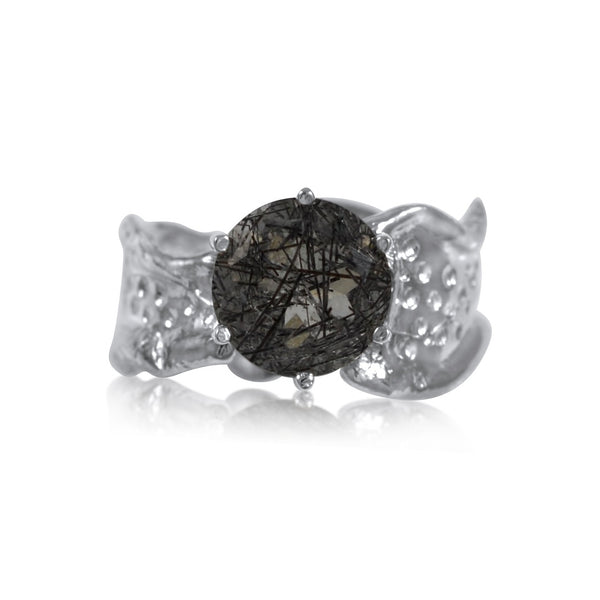 Kristen Baird Ripple Ring Gemstone Rutilated Quartz