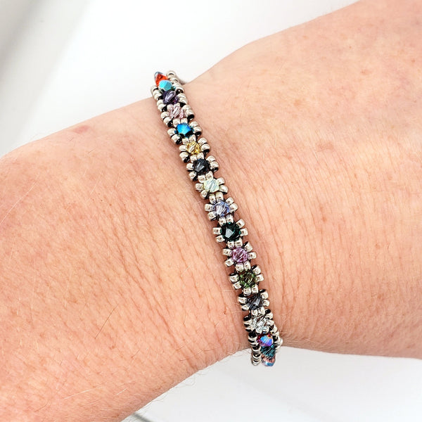 colorful tennis bracelet by Shirley Daniell