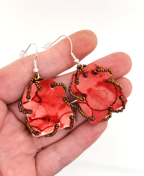 red earrings by Shirley Daniell