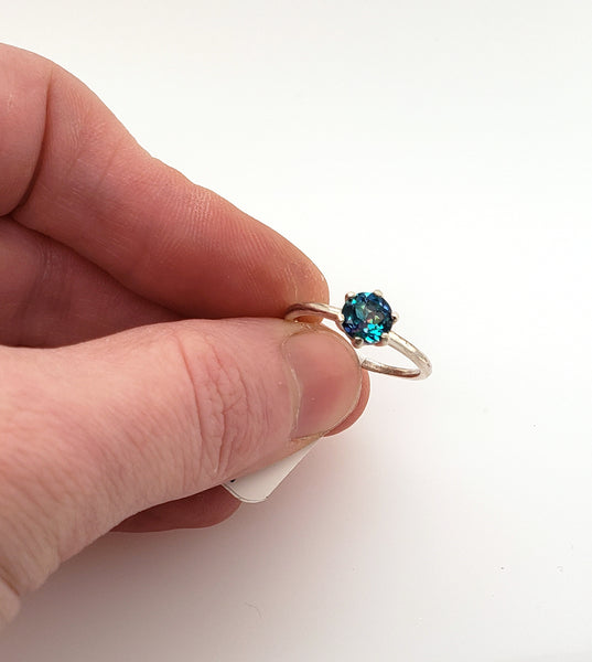 size 7 ring with blue topaz at Gallery 209