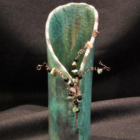 Wired Raku Vessel by Deborah Mueller Gallery 209