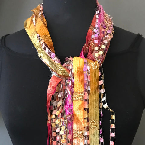 Gini Steele fiber necklace or scarf