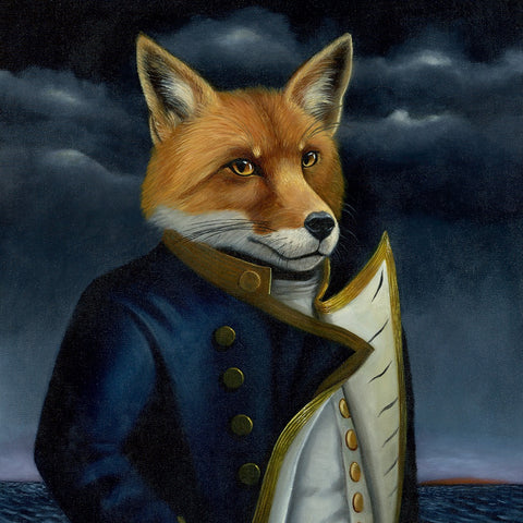 fox painting by Olivia Beaumont