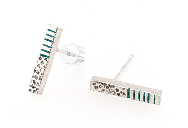 modern line and dot earrings