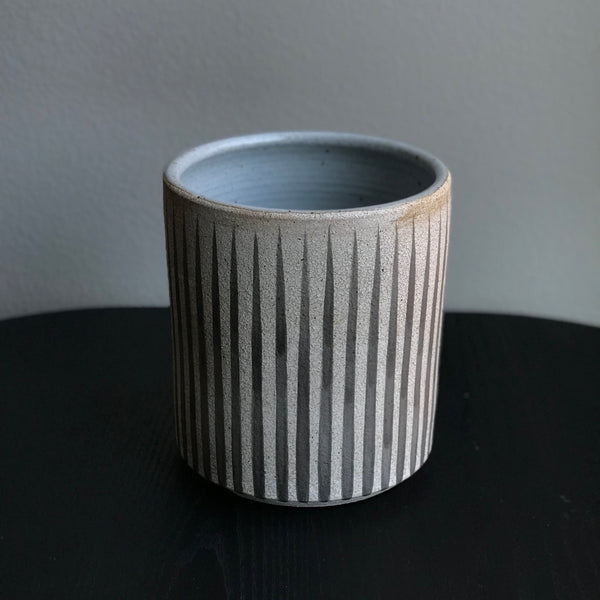 GREY STRIPES VASE