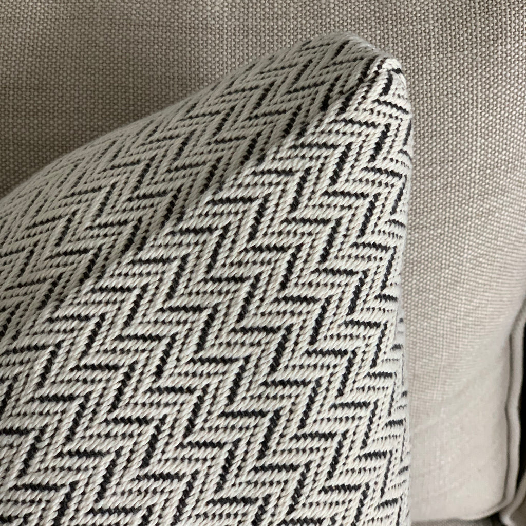 CUSTOM WOVEN CHEVRON PILLOW