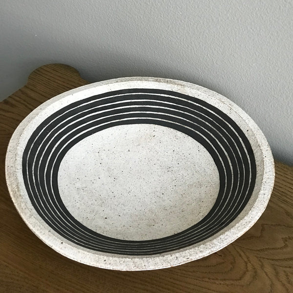 BLACK STRIPE BOWL
