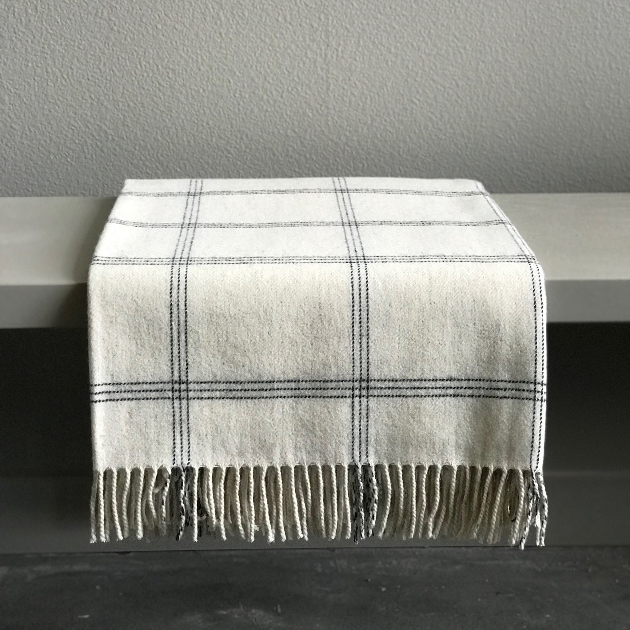 IVORY WINDOWPANE THROW