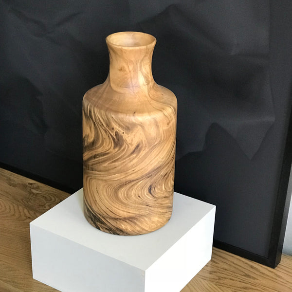 MANGO WOOD VASE - TALL