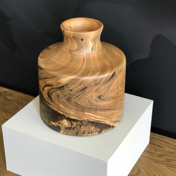 MANGO WOOD VASE - WIDE