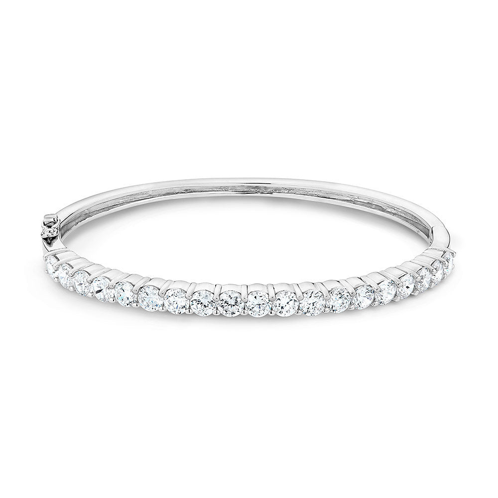 Copy of Sterling silver bangle set with Signity CZ