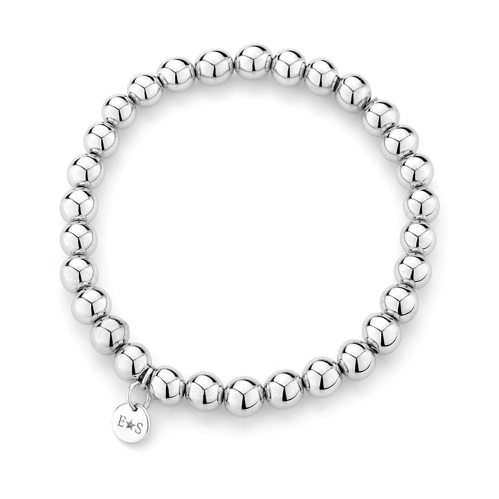Sterling silver bracelet rhodium plated