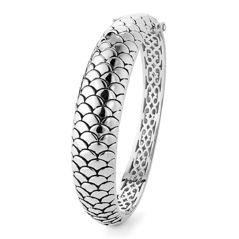 Sterling silver bangle bracelets rhodium plated
