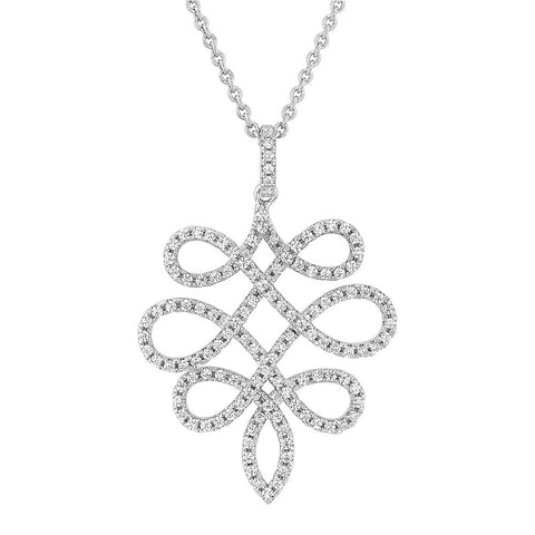 Delicate sterling pendant set with Signity CZ