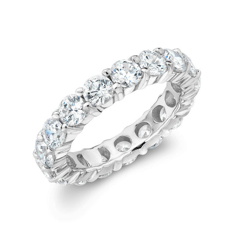 Sterling  silver eternity  ring set with Signity CZ