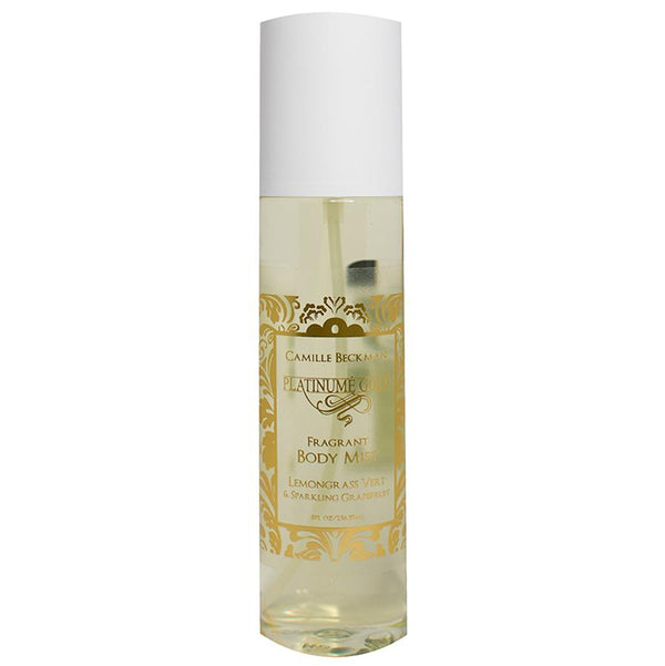 Fragrant Body Mist 8oz Platinume Gold (Case/6) Body Mist Camille Beckman Wholesale