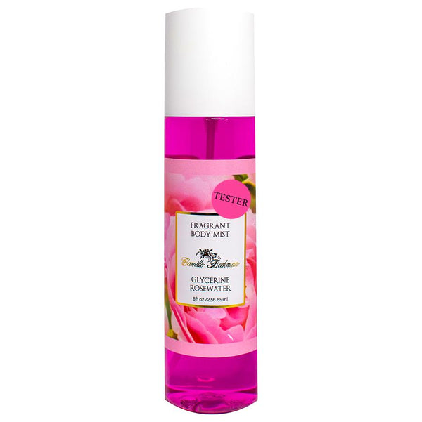 Fragrant Body Mist 8oz Glycerine Rosewater (Tester) Body Mist Camille Beckman Wholesale