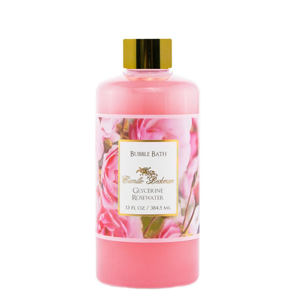 Bubble Bath 13oz Glycerine Rosewater (6/case) Bubble Bath Camille Beckman