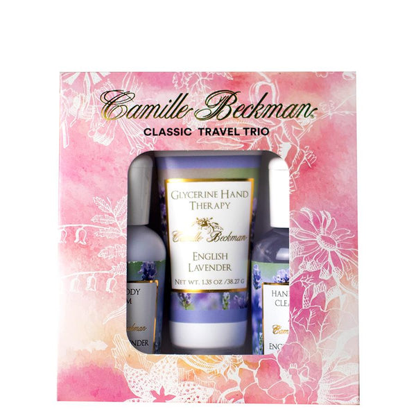 English Lavender Classic Travel Trio (6/Case) Gift Set Camille Beckman Wholesale