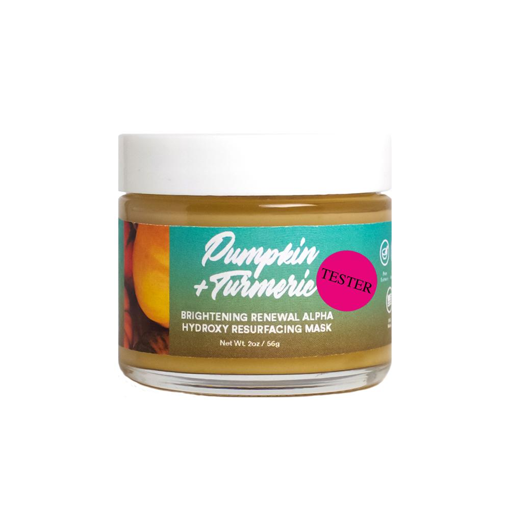 Pumpkin + Turmeric Brightening Renewal Alpha Hydroxy Resurfacing Mask 2oz Tester