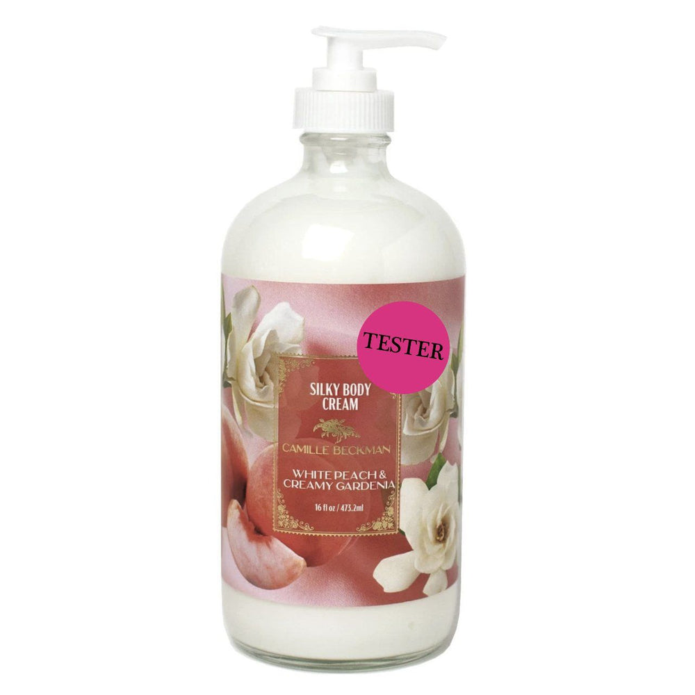 Silky Body Cream 16oz White Peach & Creamy Gardenia (Tester)