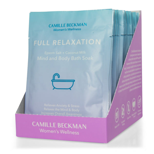 Full Relaxation - Mind and Body Bath Soak (15/Case) Bath Soaks Camille Beckman Wholesale